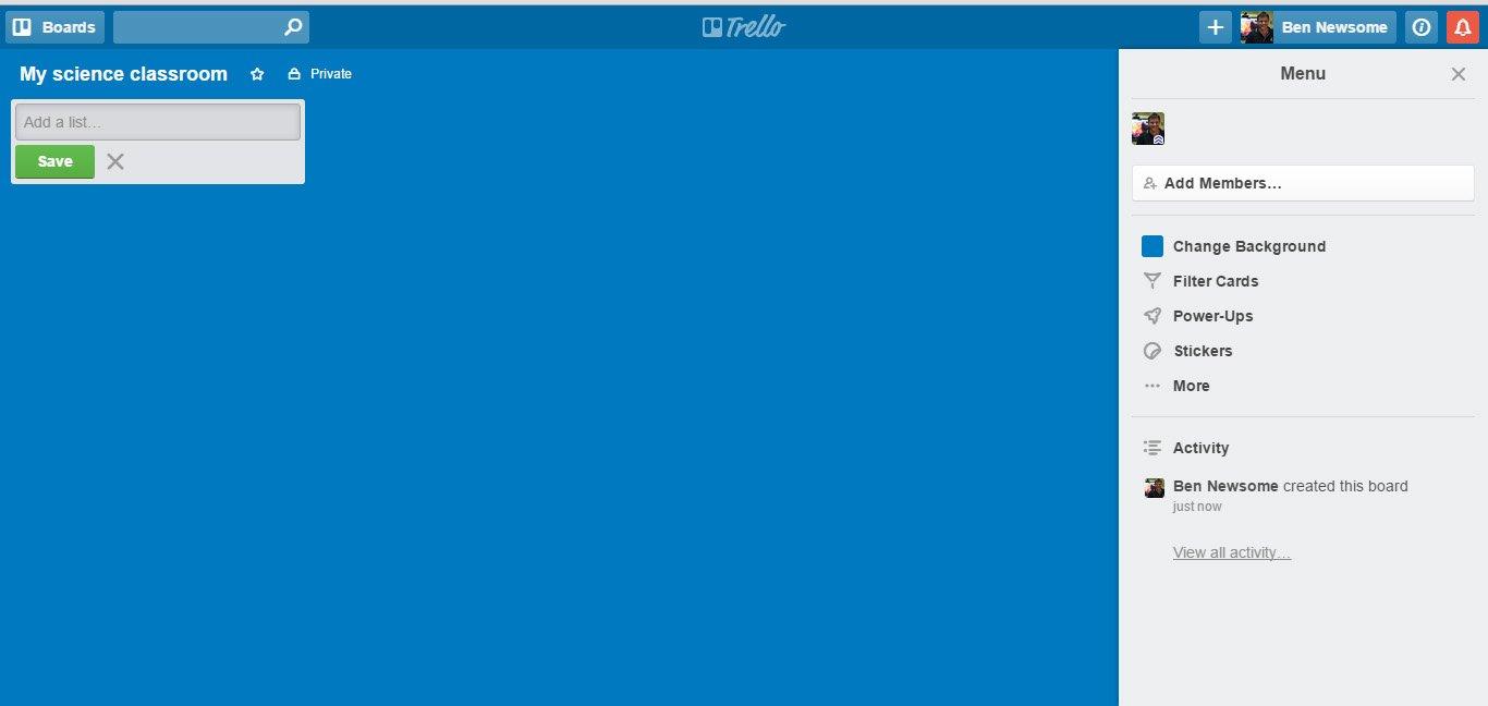 Trello home page