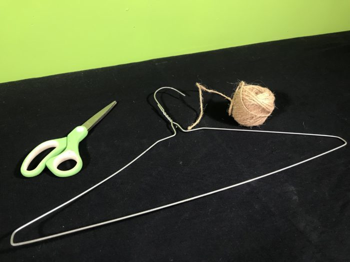 Coathanger gong science experiment - materials needed