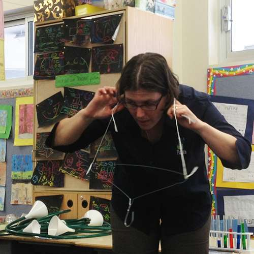 Coathanger gong science experiment - strings in the ear 500 x 500px