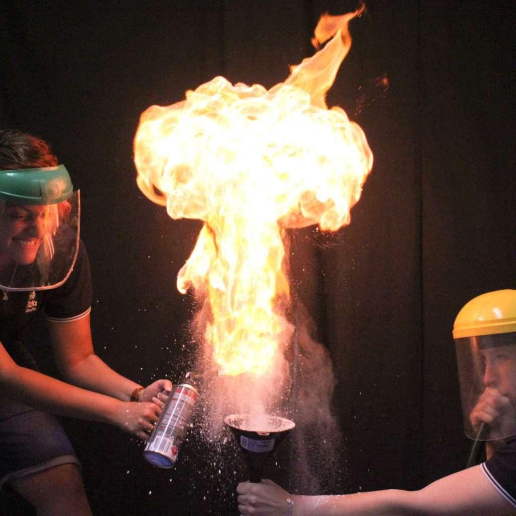 flour fireball!