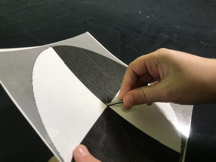 Make a Secchi disc - putting a hole through the disc