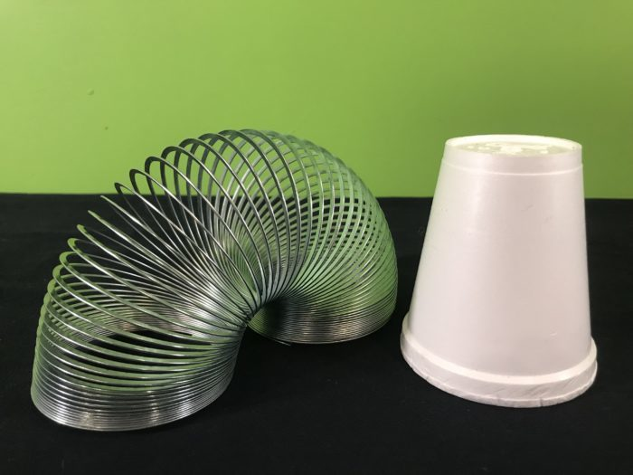 Star Wars slinky sounds science experiment - materials needed