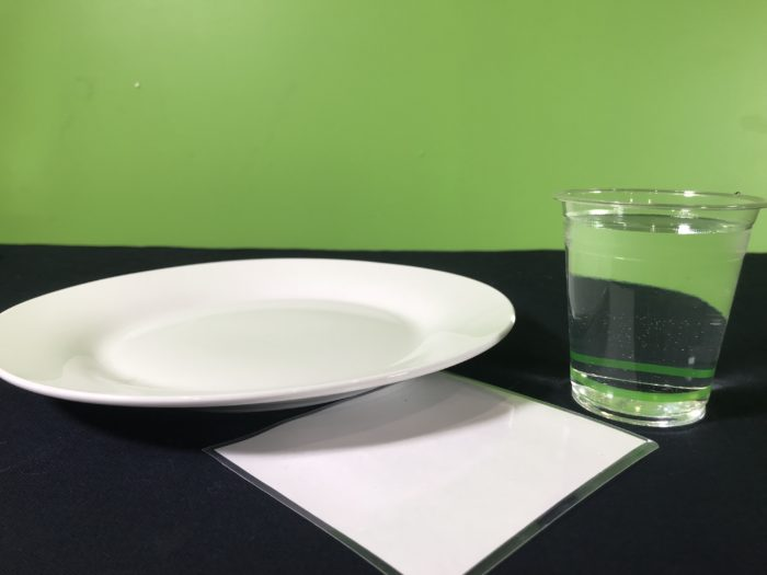 Upside down water cup science experiment - materials needed
