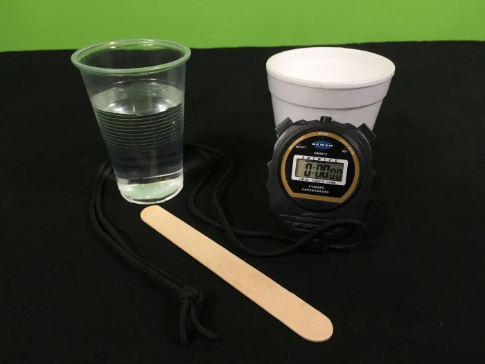 What freezes first, hot or cold water Science Experiment - setupmaterials