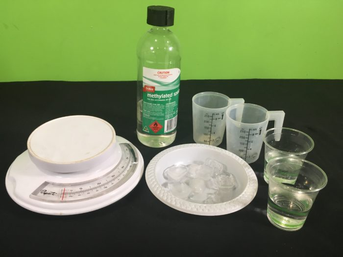 Why does Ice Float Science Experiment - setup_materials