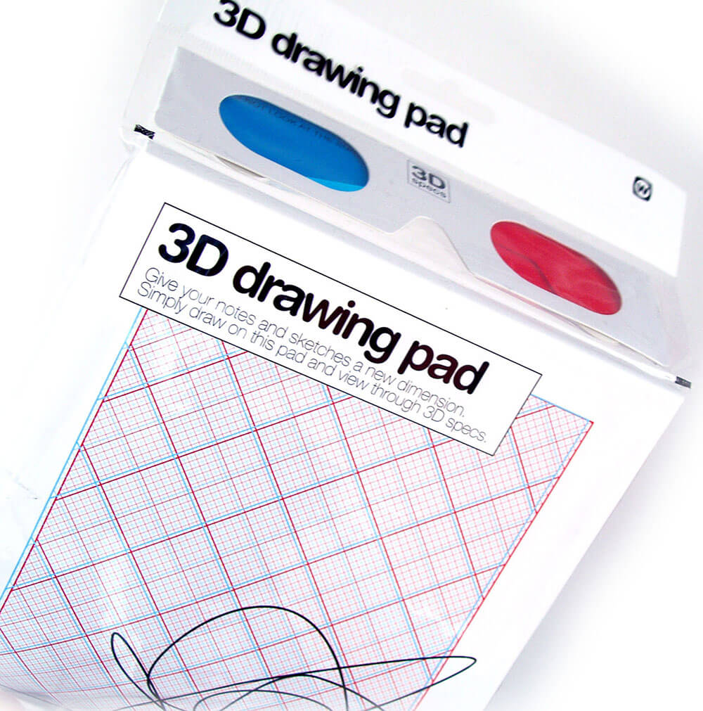 NPW 3D Drawing Pad 50 sheets +3D glasses stereoscopic paper W3550 special edit