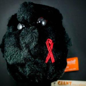 Gigantic HIV plush toy