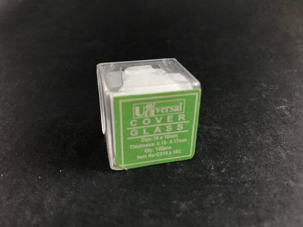Microscope slide coverslip (pkt 100)