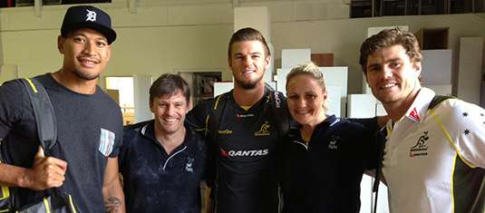 With the Wallabies 2014