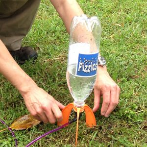 Liquifly water rocket on the grass