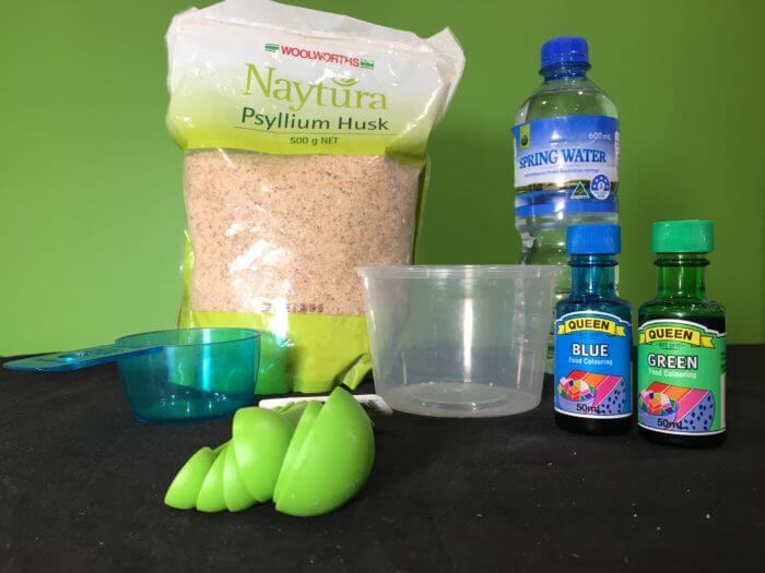 Edible flubber slime science experiment - materials needed