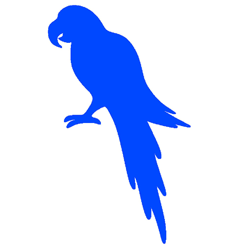 Blue parrot in picture