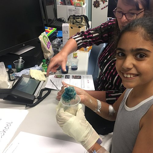 Connecting with Bankstown hospital school fro 4 slimes in 30 minutes