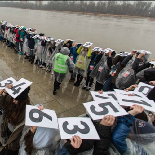 Longest human representation of Pi in 2018 on March 14 in Poland