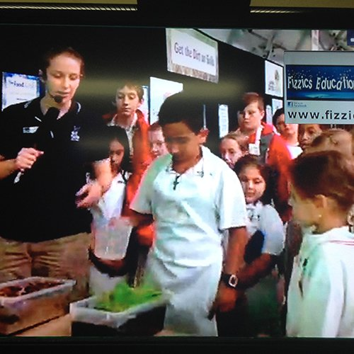 Students showcasing their learnig during a soil conference at the Royal Easter Show