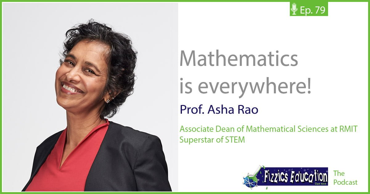 Mathematics with Professor Asha Rao tile showing a picture of Asha Rao smiling