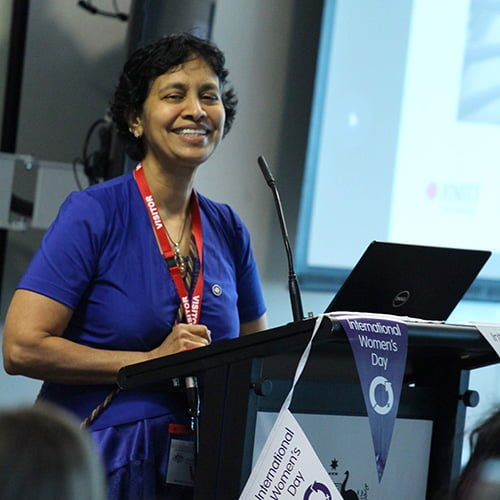 Professor Asha Rao teaching at RMIT