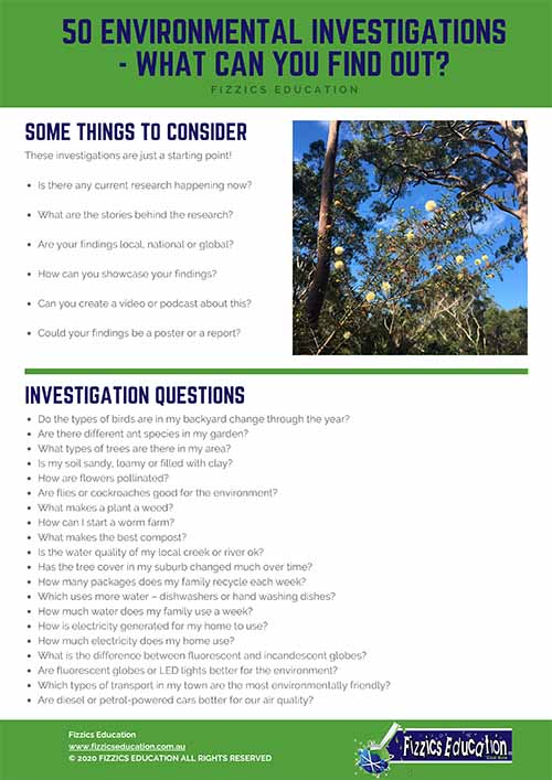 50 Questions for Kids about the Environment