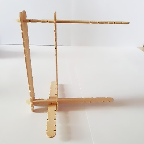 Step 3 with six paddle pop sticks connected