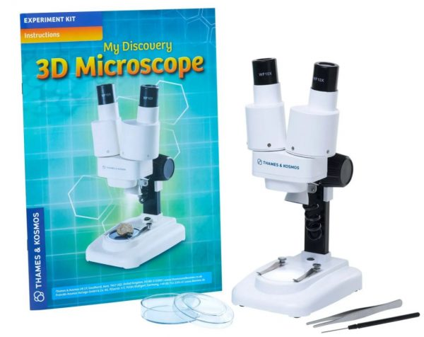3D Microscope next to experiment booklet