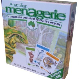 Australian menagerie card game kit (picture of a frog on the front of the box)