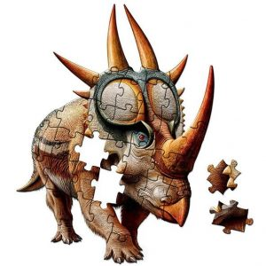 Rubeosaurus puzzle put together on a white background