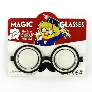 Silly Lab Costume Glasses in a red and white package