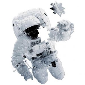 astronaut floor puzzle with a pirce missing