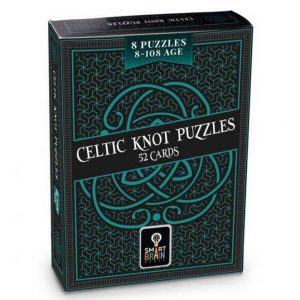 The celtic knot puzzle box . The colours are dark green and forest green with celtic motifs